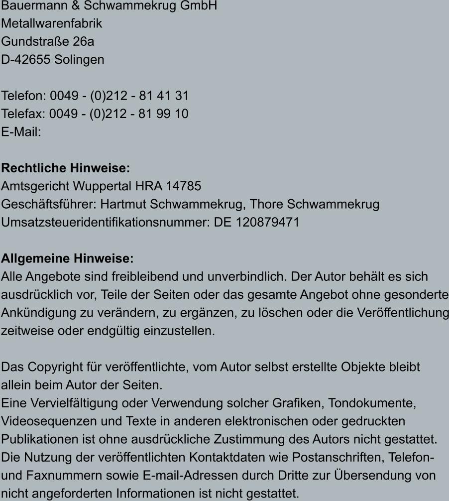 Bauermann Schwammekrug Gmbh